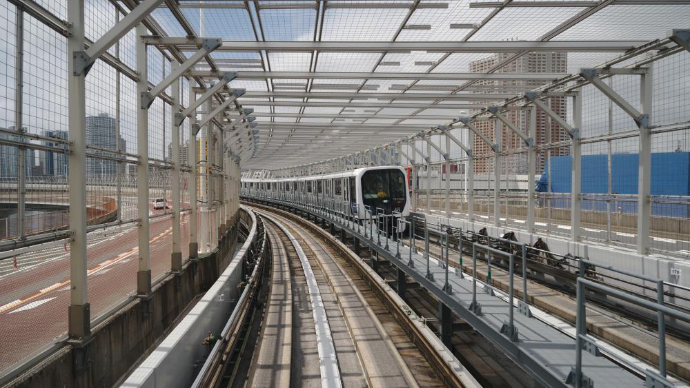 The Yurikamome Autonomous LRT in Tokyo wallpaper
