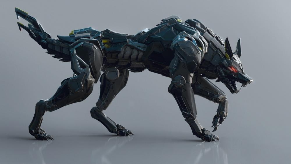 Mech wolf wallpaper