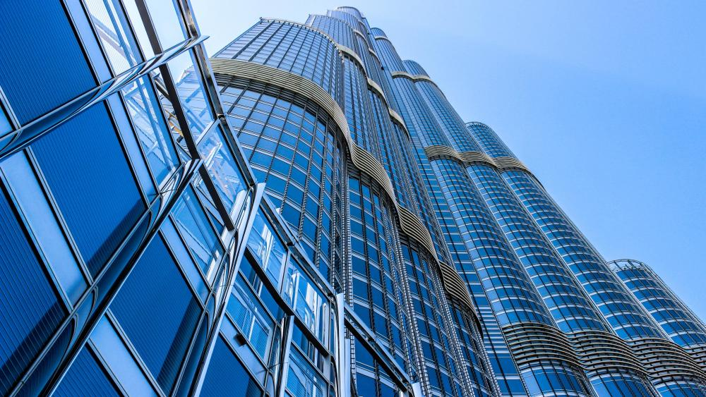 Worm's-Eye View of the Burj Khalifa wallpaper
