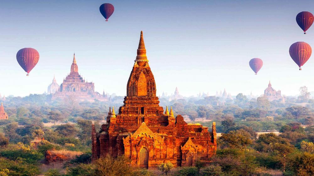 Buddhist Temples Bagan Myanmar wallpaper