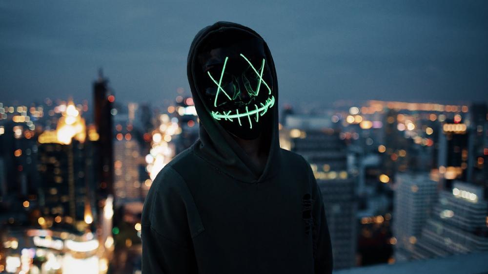 Neon Mask wallpaper