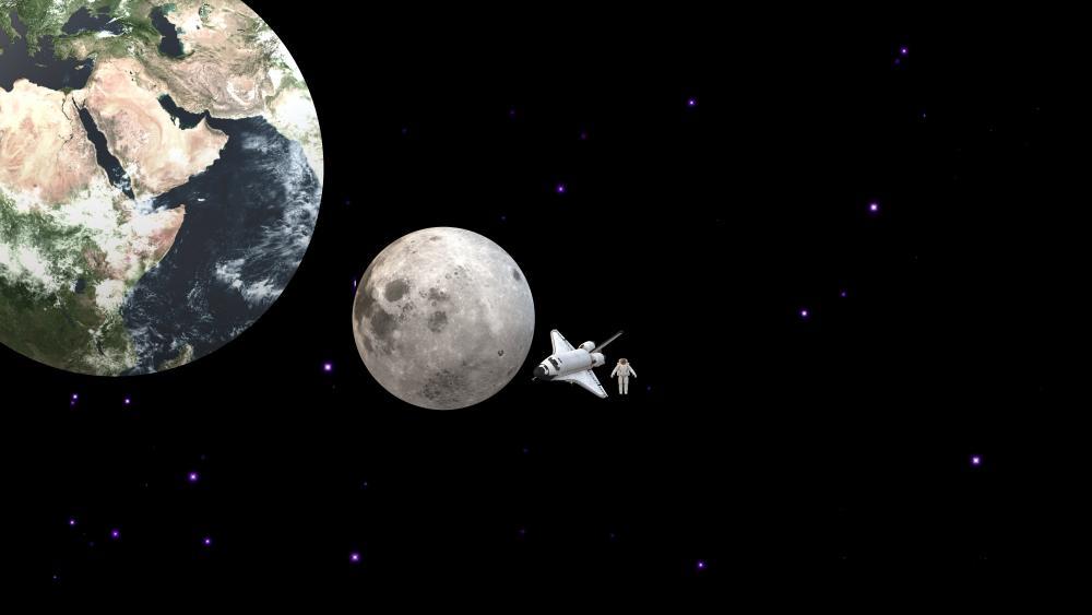 Moon Earth wallpaper