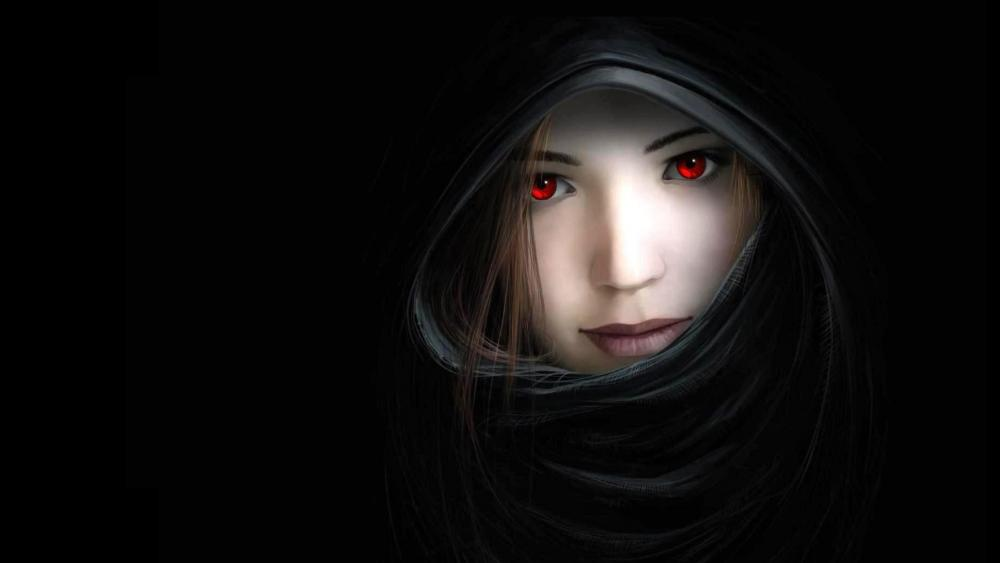 Women dark mouth wallpaper