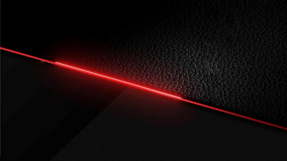 Red line in deep black wallpaper