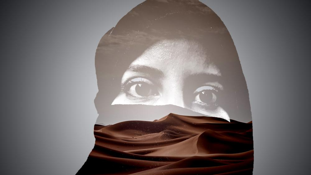 Sahara woman wallpaper