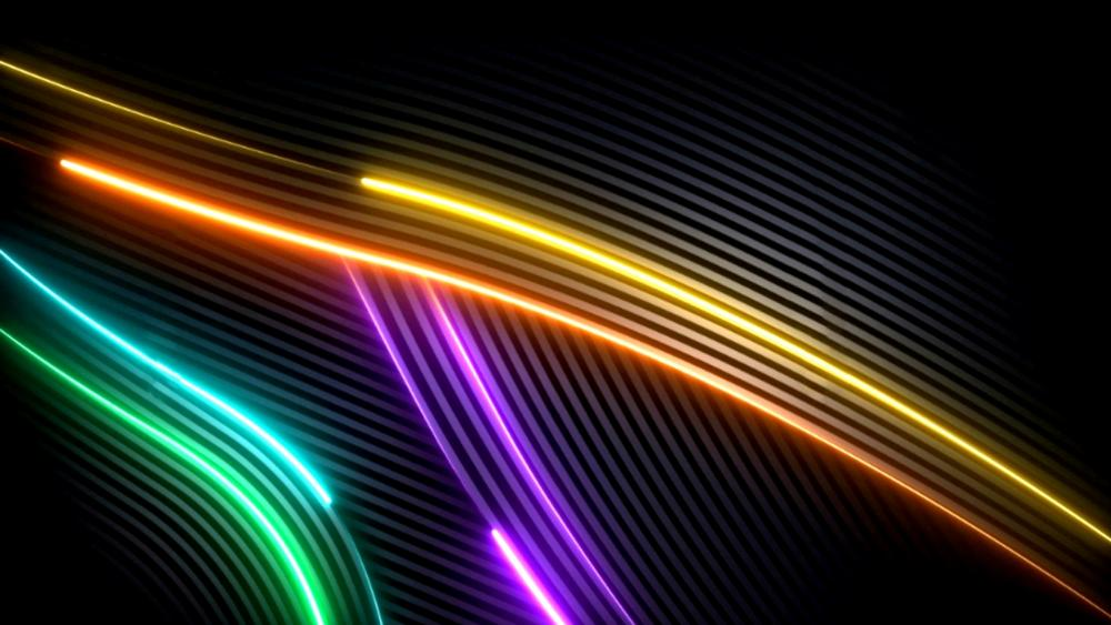 Colorful neon wallpaper