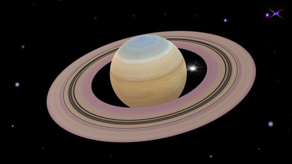 Saturn and its impressive rings wallpaper