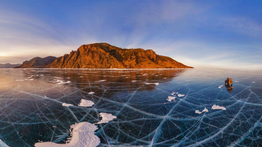 The frozen Lake Baikal wallpaper