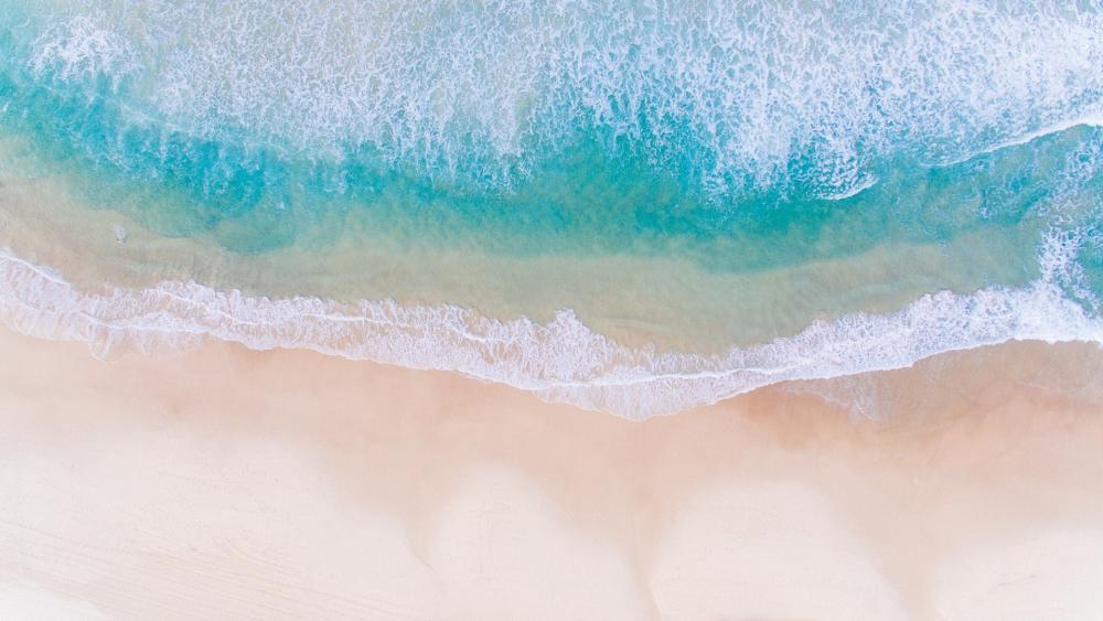 Sandy beach from above wallpaper