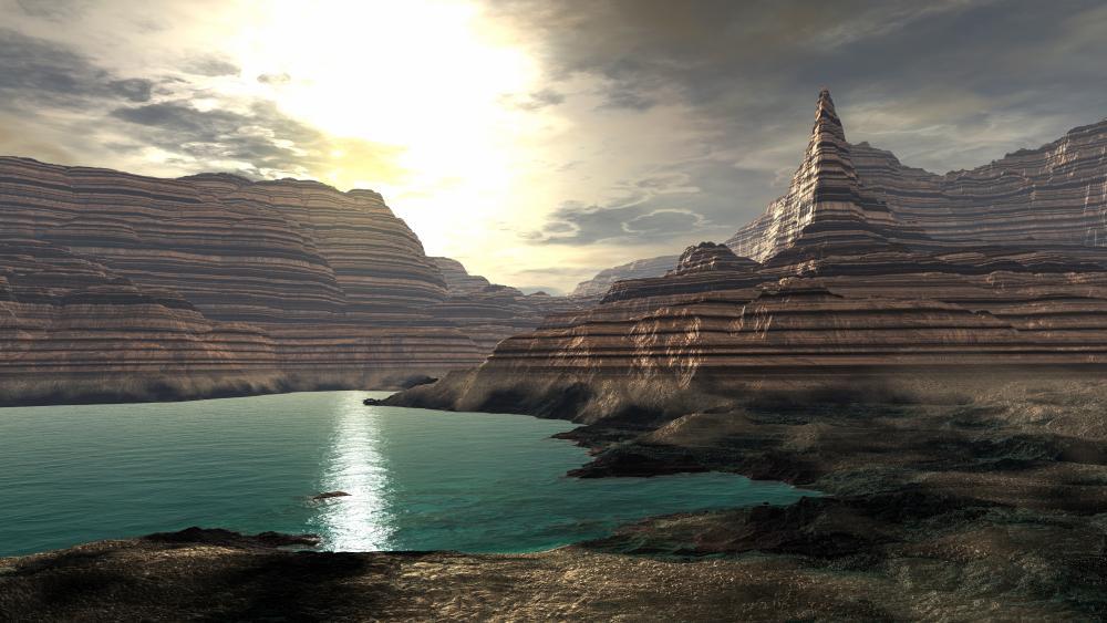 Futuristic landscape wallpaper