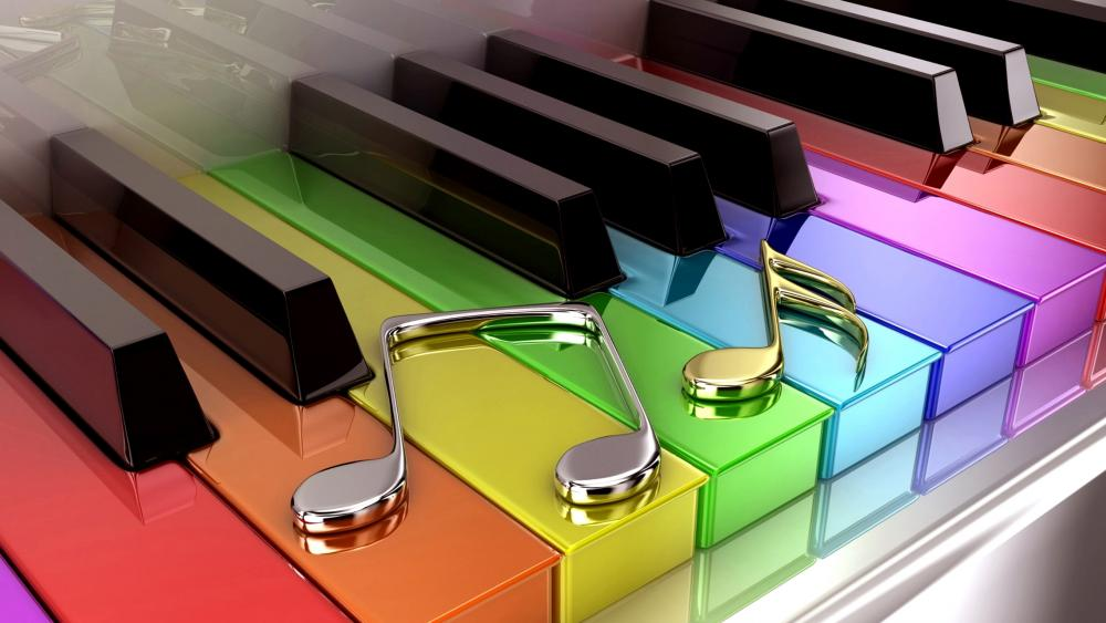 Colorful Grand Piano wallpaper