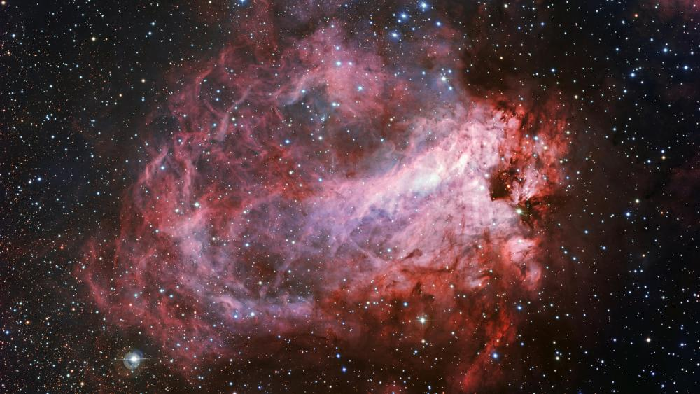 The Star-Formation Region Messier 17 wallpaper