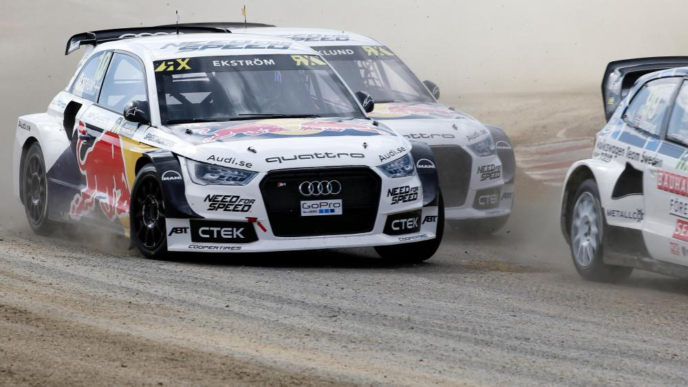 2015 FIA World Rallycross Championship Round 09 in Loheac, France wallpaper