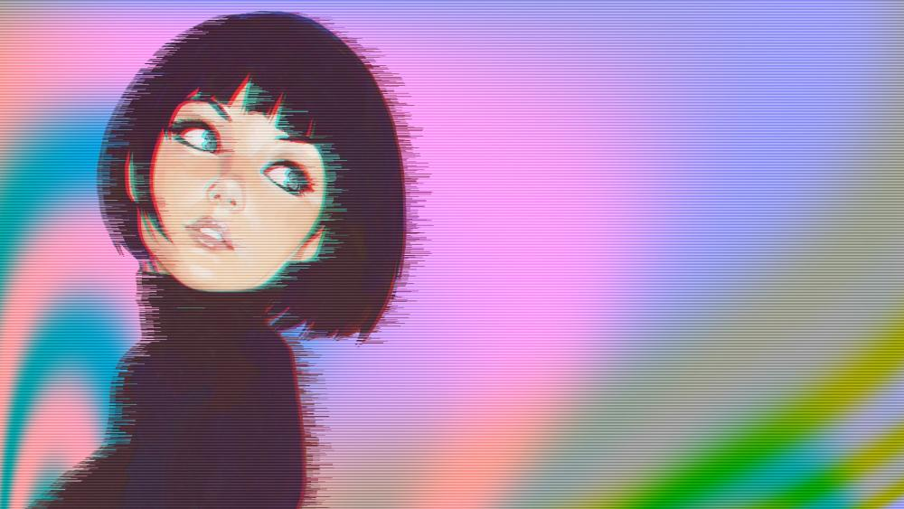Vaporwave Girl wallpaper