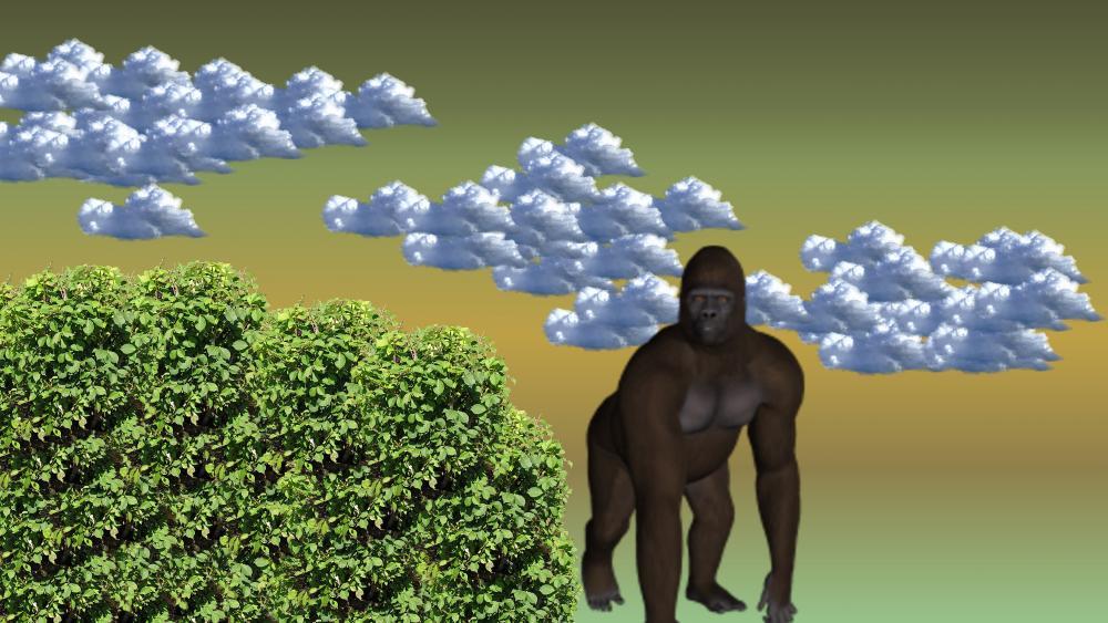 Gorilla in the mist wallpaper