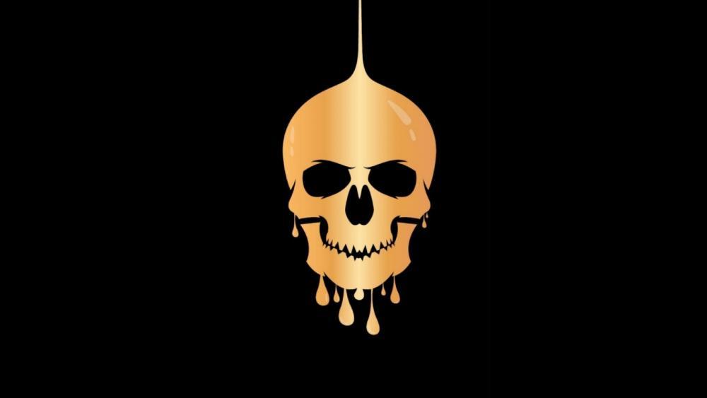 Golden skull wallpaper