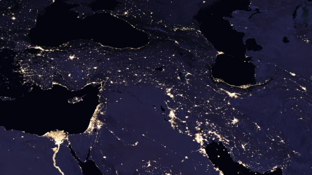 Night Lights of the Caucasus & the Levant 2016 wallpaper