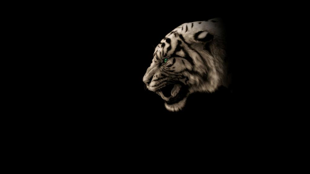 Green-eye cool Tiger wallpaper