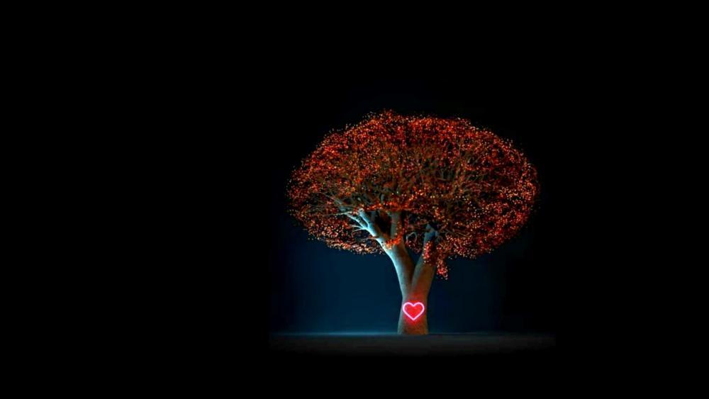 Heart of Tree wallpaper