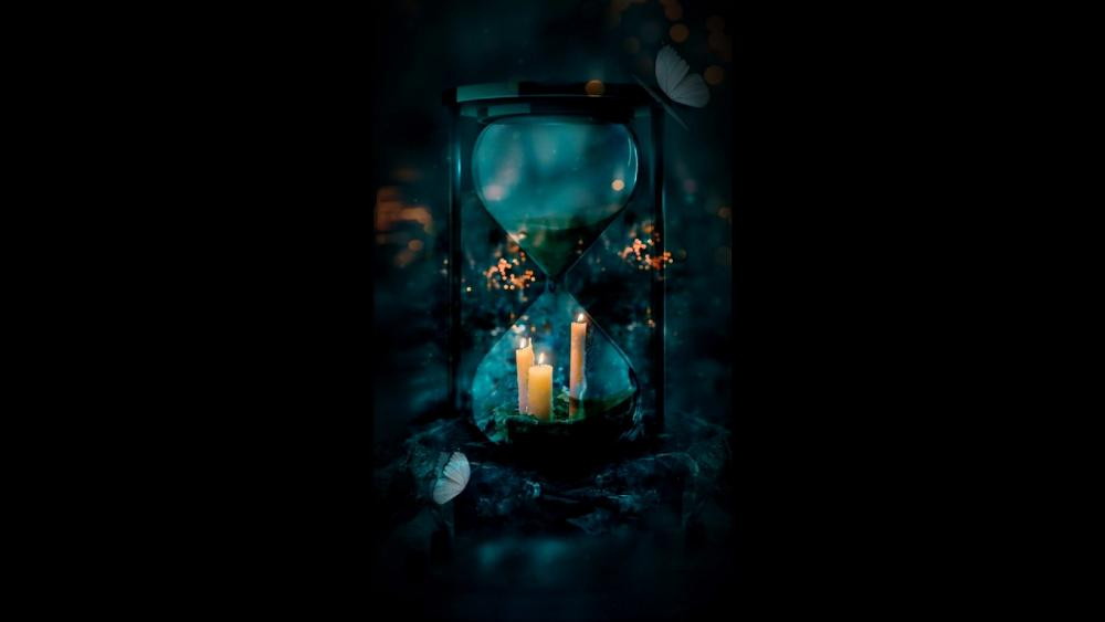 Dark hourglass wallpaper