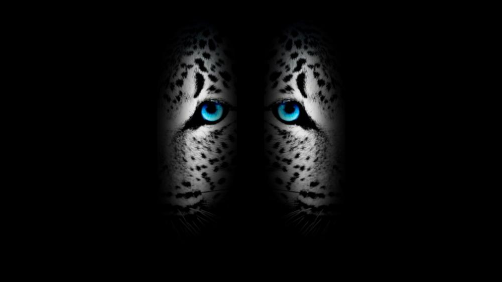 Dark-Blue abstract jaguar wallpaper