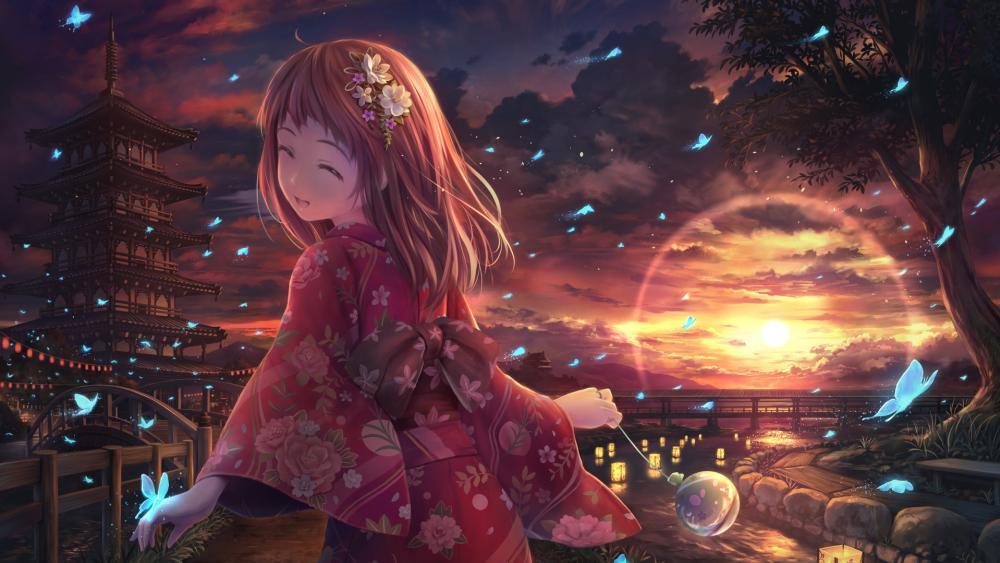 Japanese anime girl wallpaper