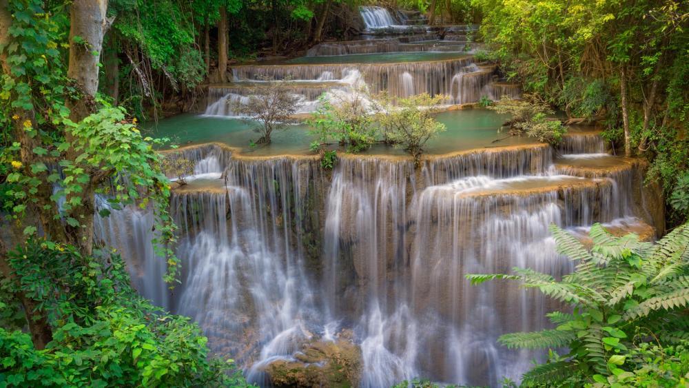 Huai Mae Kamin Waterfall, Thailand wallpaper