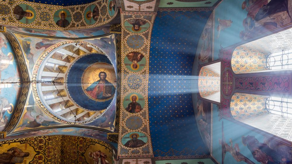 Ceiling Art of the Tbilisi Sioni Cathedral wallpaper