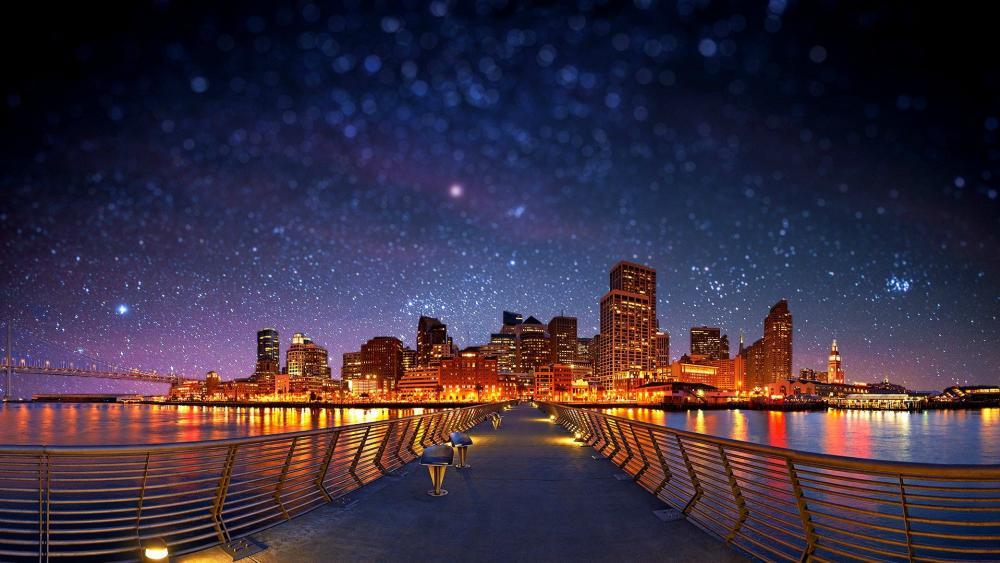 San Francisco by night wallpaper