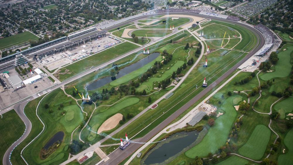 Aerial Photo of the Indianapolis Motor Speedway During the Red Bull Air Race World Championship wallpaper
