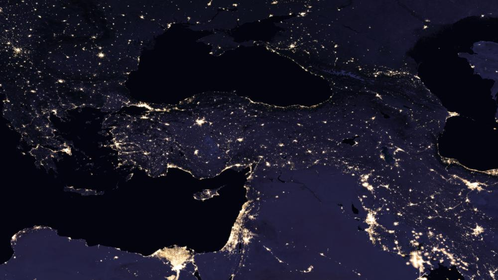 Night Lights of Turkey, Southeastern Europe & the Caucasus 2016 wallpaper