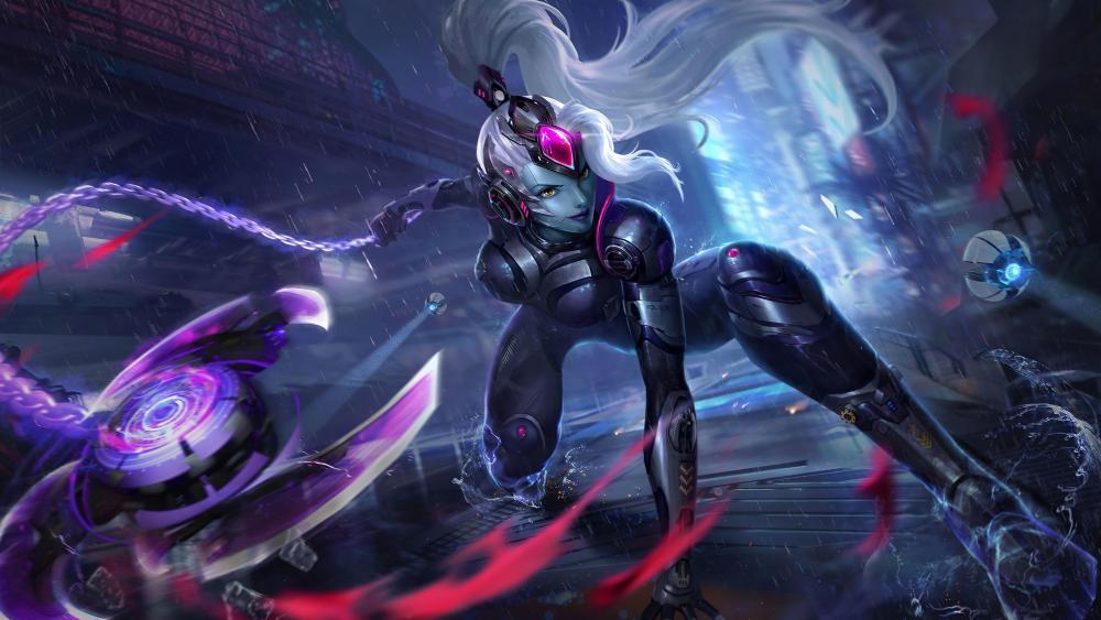 Female cyborg wallpaper