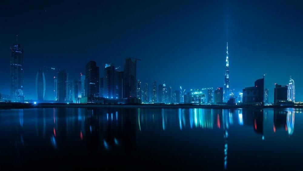 Dubai Night Skyline wallpaper