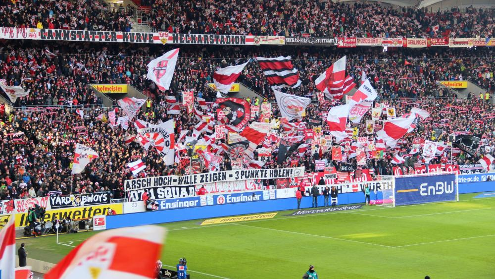Crowd at Mercedes-Benz Arena in Stuttgart wallpaper - backiee