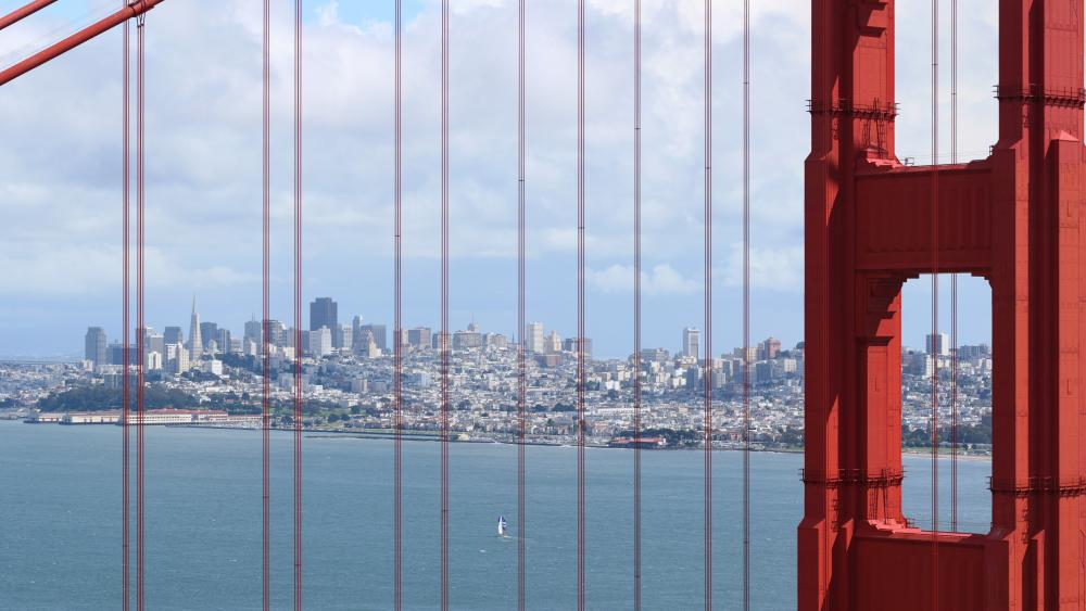 San Francisco Through the Golden Gate Bridge wallpaper