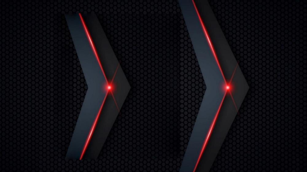 Red gray fiber wallpaper