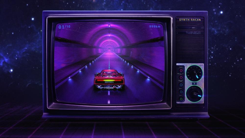 Synthwave TV wallpaper
