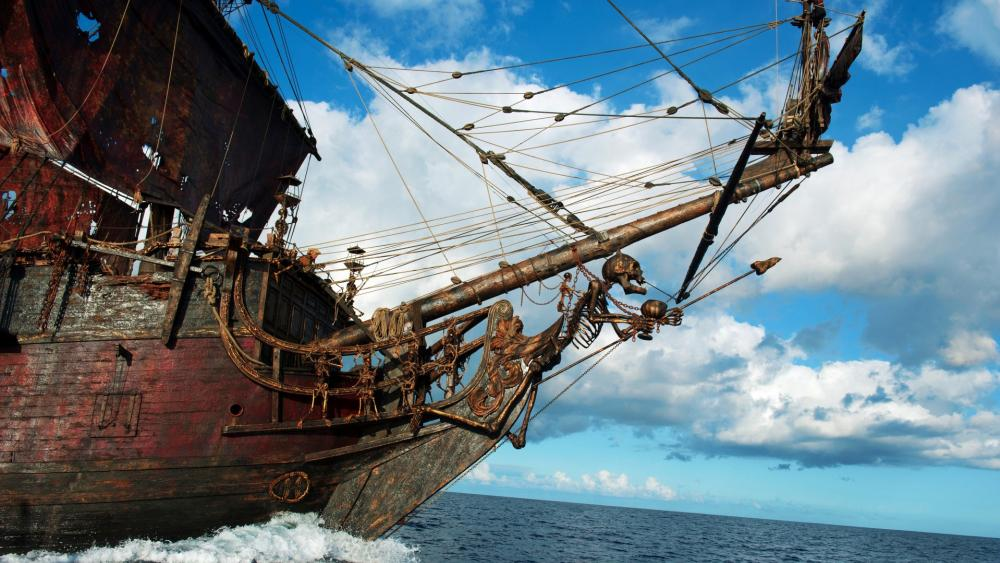 Pirate Ship Front wallpaper