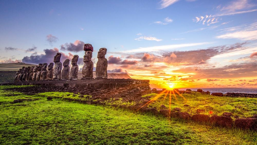 Moai wallpaper
