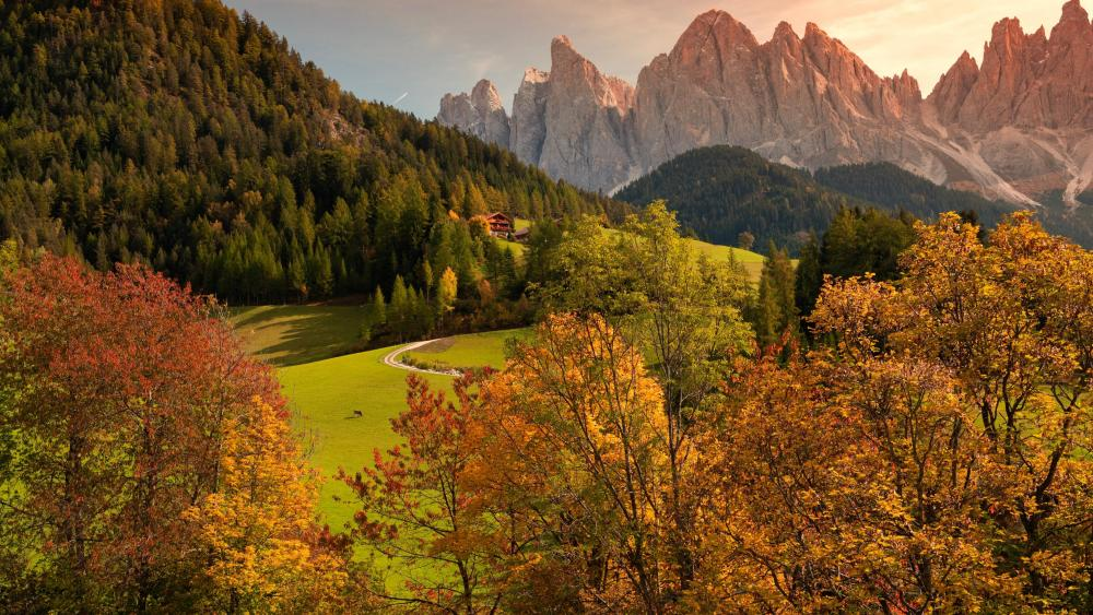Dolomites at fall wallpaper