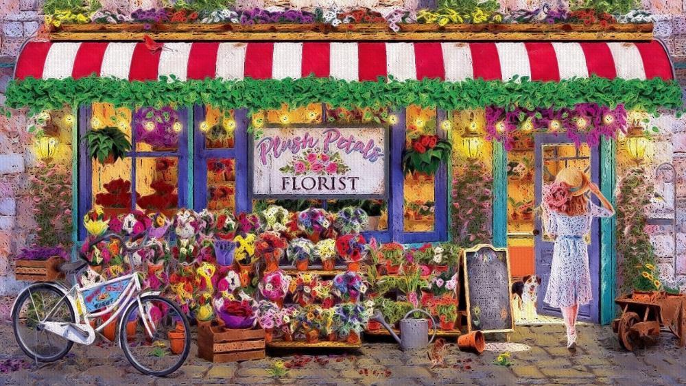 Plush Petals wallpaper