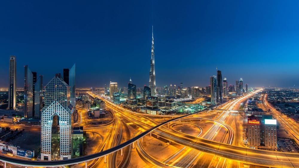 Dubai at Night wallpaper