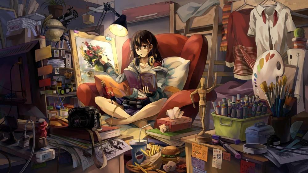 Gamer Anime Girl wallpaper