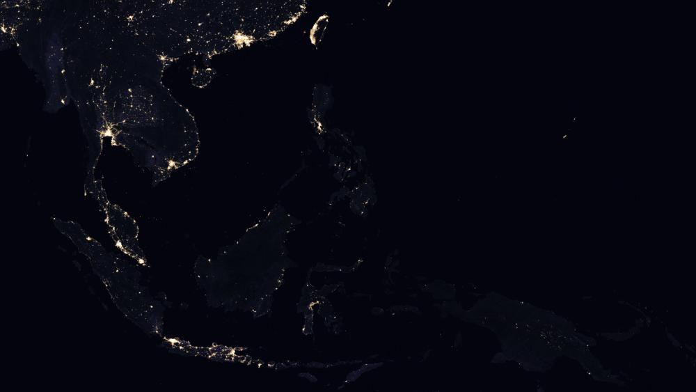 Night Lights of Southeast Asia 2016 wallpaper