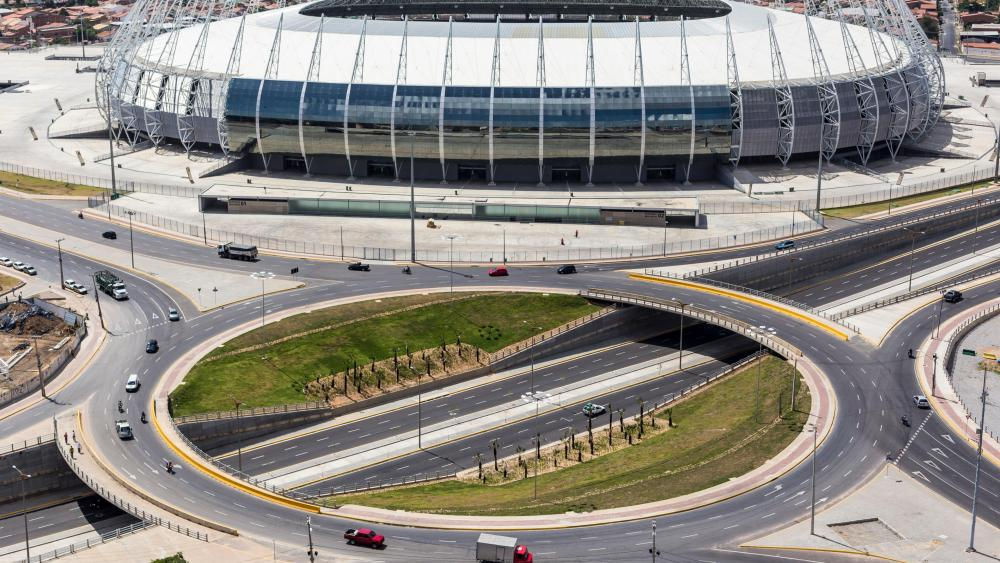 Traffic Circle in front of Castelão Arena wallpaper