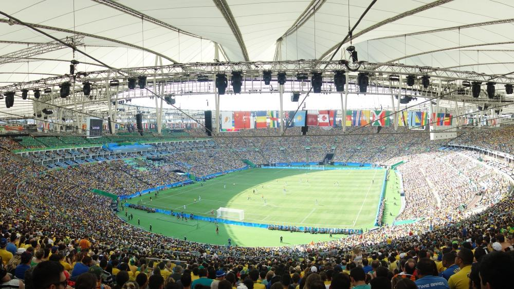 Panorama of Brazil vs. Honduras at the 2016 Summer Olympics wallpaper