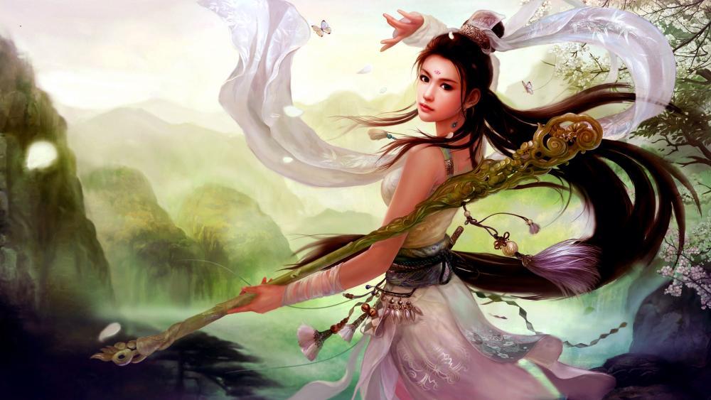 Fantasy Girl Digital Art wallpaper