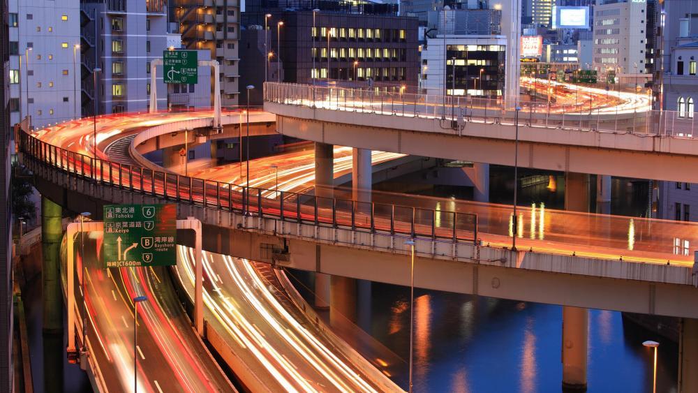 Expressway Junction in Tokyo wallpaper