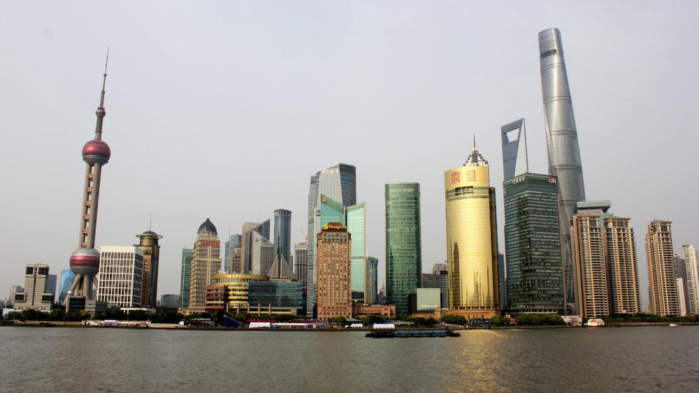 Skyline of Shanghai wallpaper