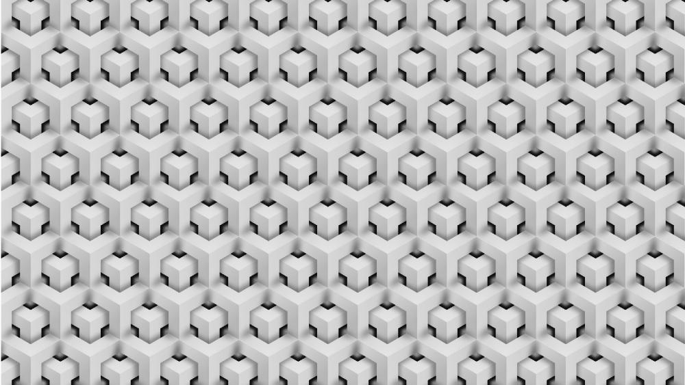 White Isometric Background wallpaper